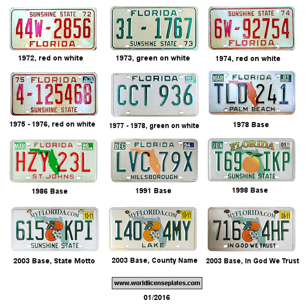 Plate Florida Florida License Status License Plate