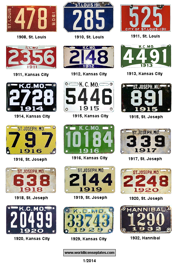 License Plates of Missouri