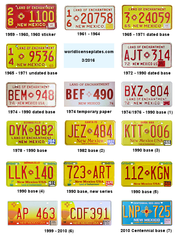 Cost Of Trailer >> License Plates of New Mexico