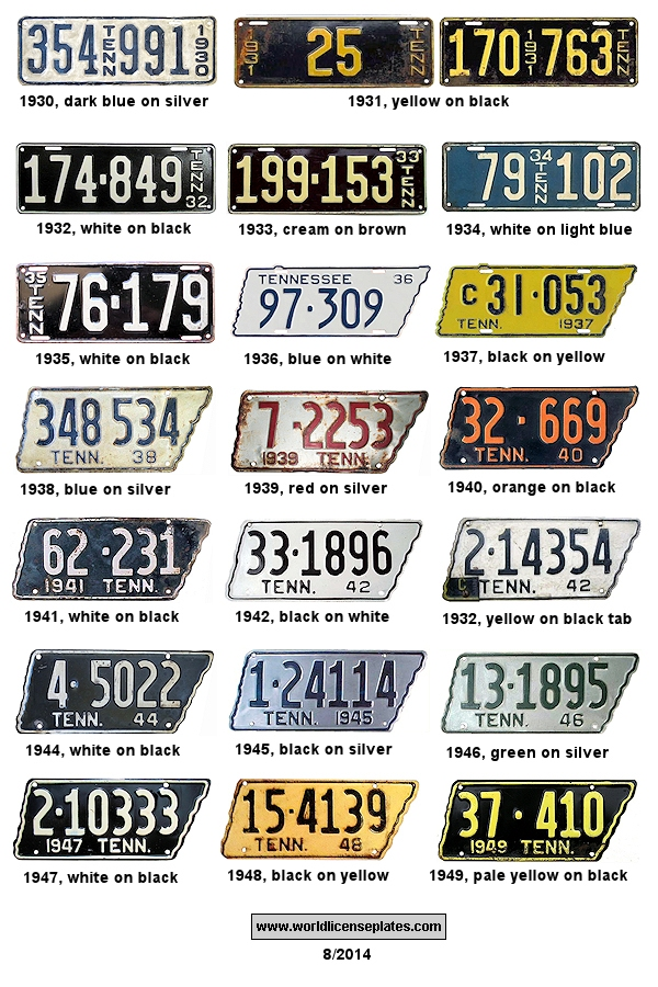 License Plates of Tennessee