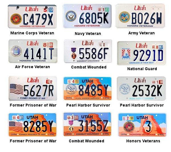 license plates of utah